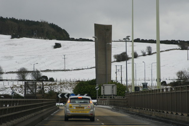Fife end of the Tay Road Bridge