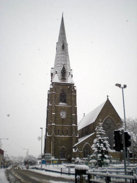St Lukes in the snow 1