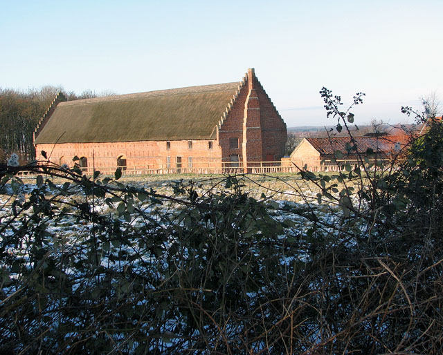 Hales Great Barn viewed from Litchmere Road