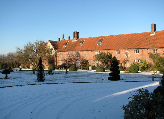 Hales Hall in the snow