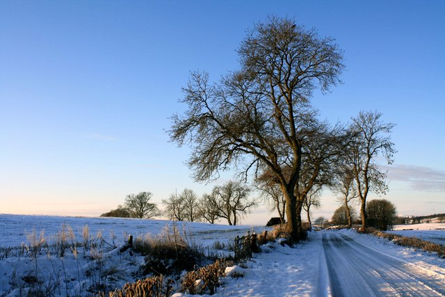 Wintry Roads near New Alyth