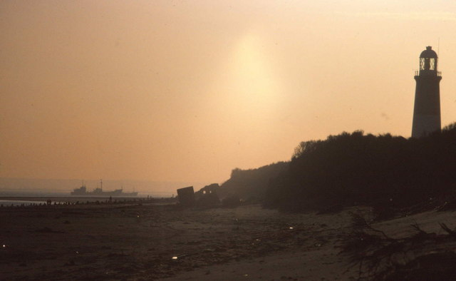 Spurn Point Lighthouse & beach scene