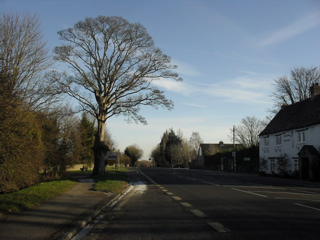 The B4047 through Minster Lovell
