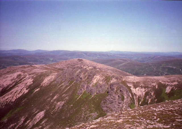 Looking northeast from West Meur Gorm Craig