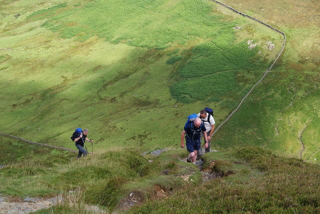 Climbing Fleetwith Edge
