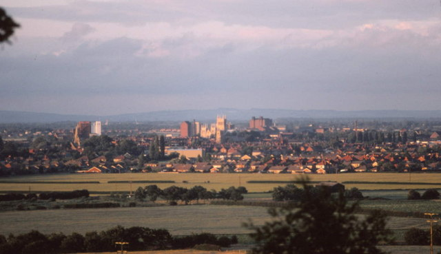 View of Selby from Brayton Barff