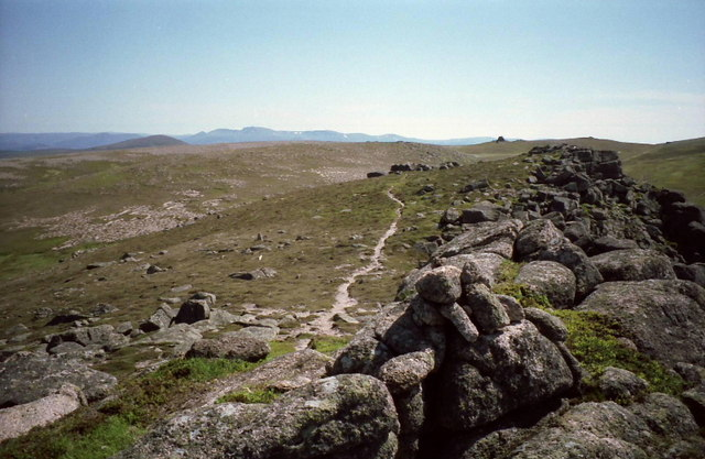 Summit cairn on East Meur Gorm Craig