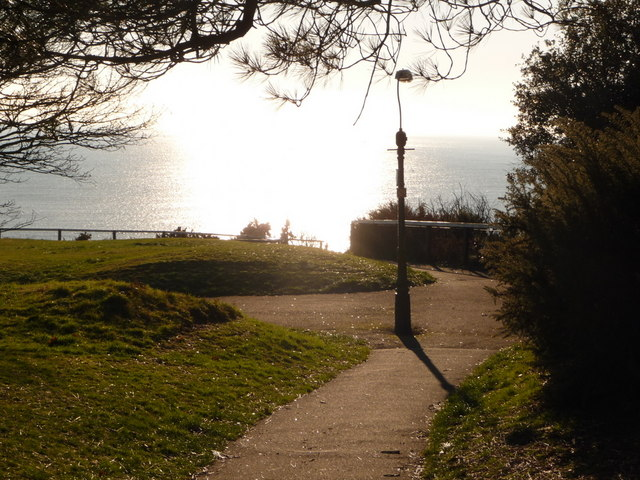 Bournemouth: West Cliff view of a glistening sea