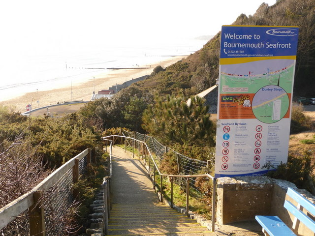 Bournemouth: seafront welcome on Durley Steps