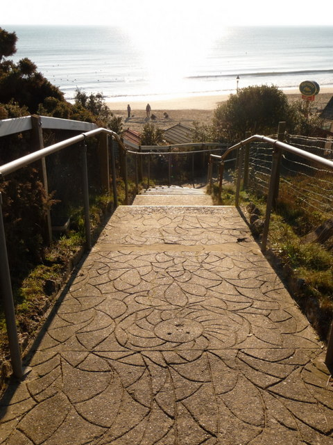Bournemouth: non-slip surface on Durley Steps