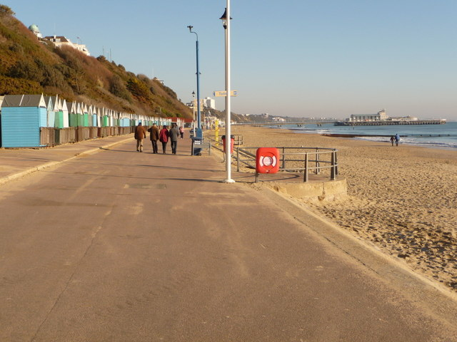 Bournemouth: the prom under the West Cliff