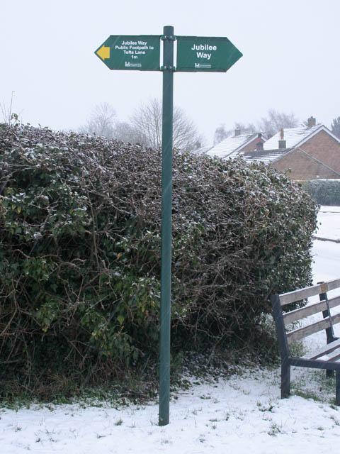 Jubilee Way signpost