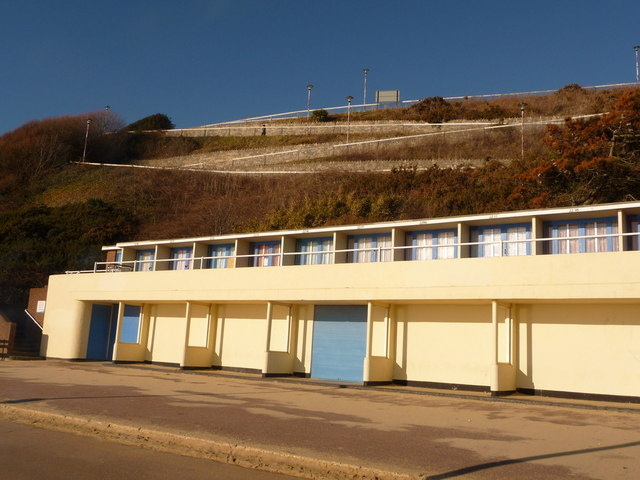 Bournemouth: West Cliff Zig-Zag and art-deco beach huts