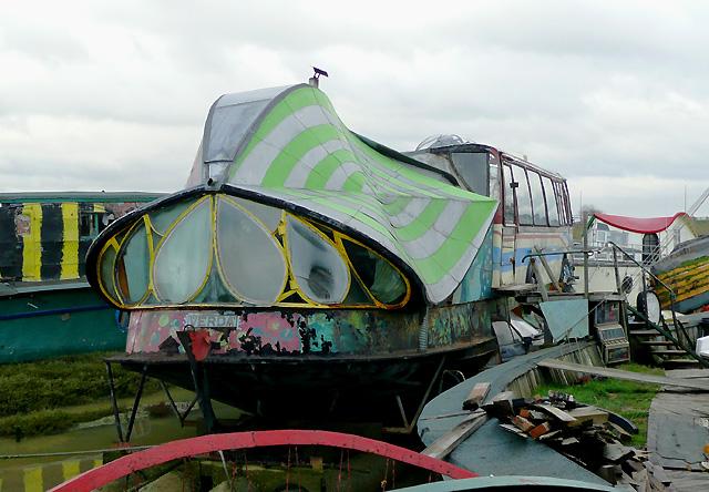 Decorative houseboat, Shoreham Beach, West Sussex