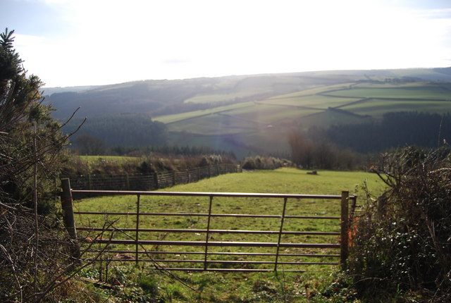 View south over the Washford River Valley