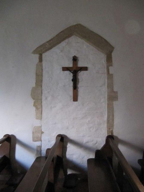 Cross on the doorway