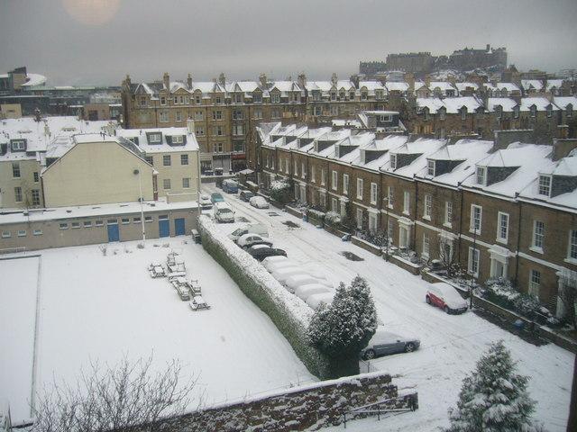 Hailes Street after snowfall