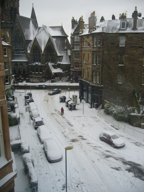 Gillespie Crescent after snowfall