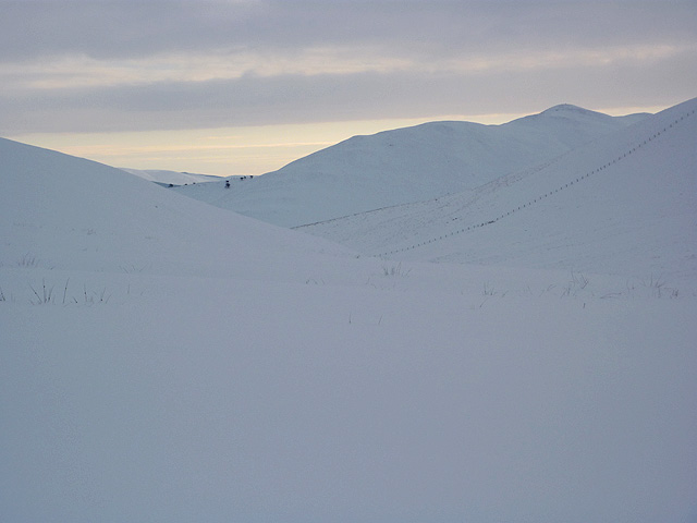 Snowscape in the Pentlands