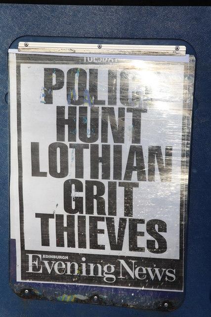 Newspaper Vendor Sign
