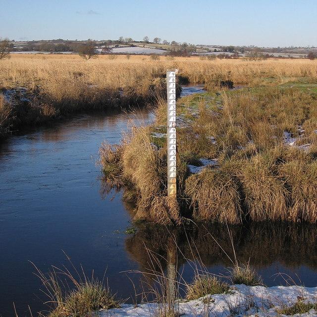 Water level gauge in the Afon Teifi