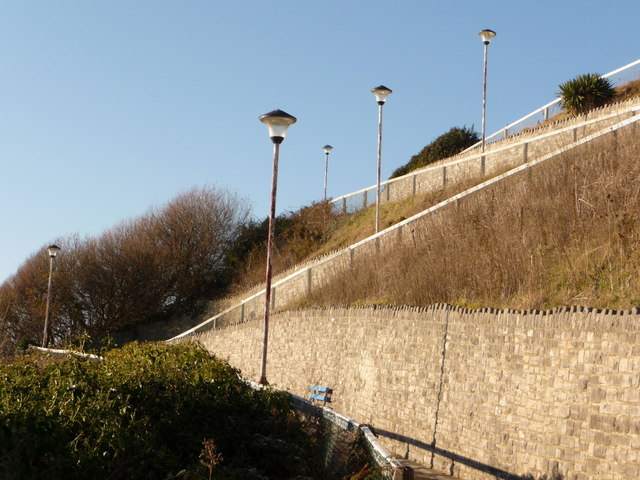 Bournemouth: lampposts on the zigzag path