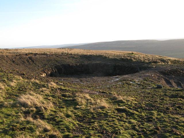 Old mine workings below Redburn Common