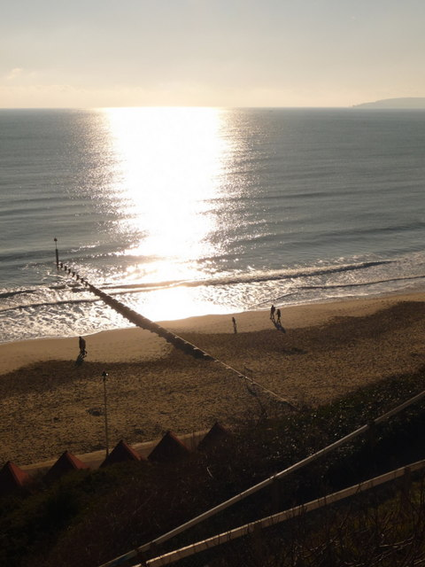 Bournemouth: looking down on groyne №8