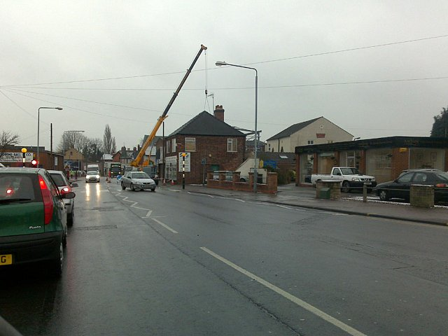 Building work on Station Road
