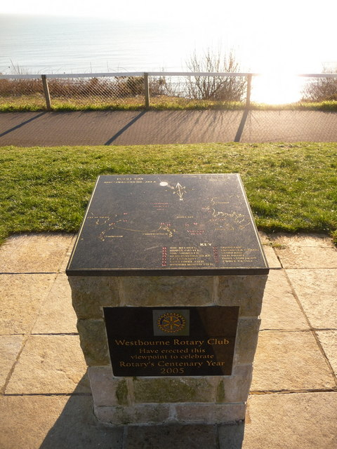 Bournemouth: toposcope on West Cliff