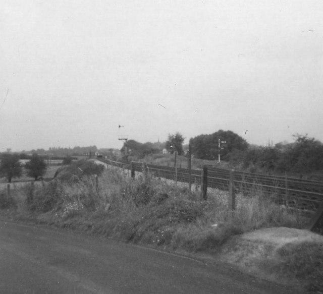 North of Lichfield Trent Valley station