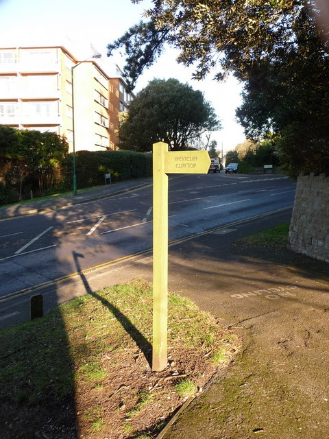 Bournemouth: signpost for the West Cliff