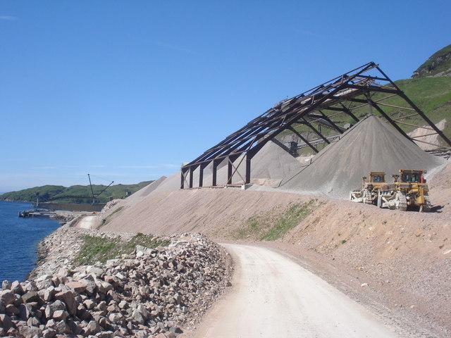 A big granite quarry