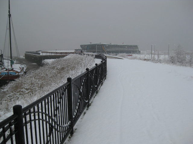 The Humber Bank Footpath in January