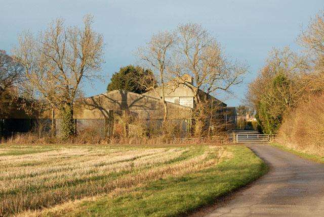 Concrete farm track south of Staverton