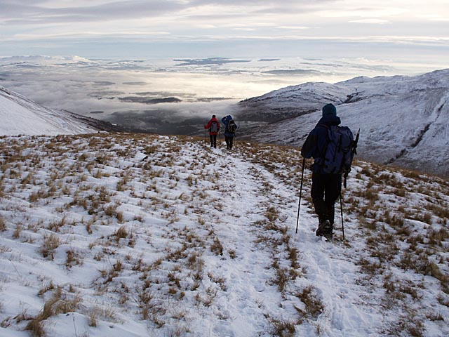 Descending Mid Hill SE ridge