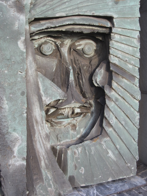 Detail from the panel at the entrance to the Cathedral of Christ the King