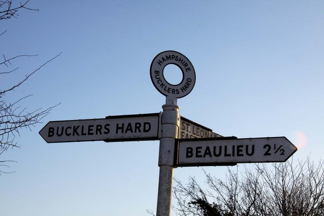 Signpost at Bucklers Hard