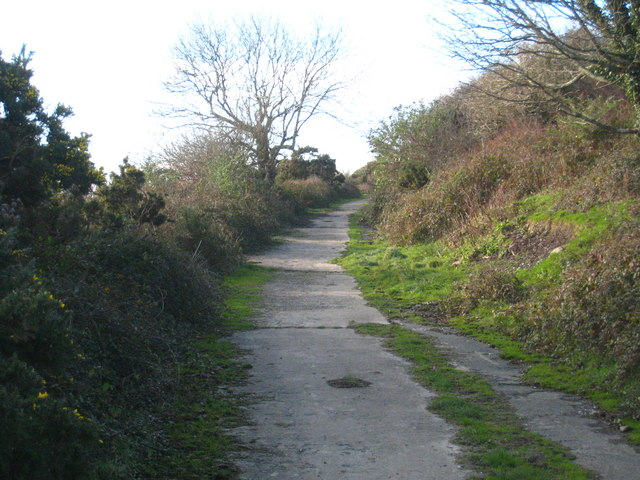 Access road to Polgwidden Cove