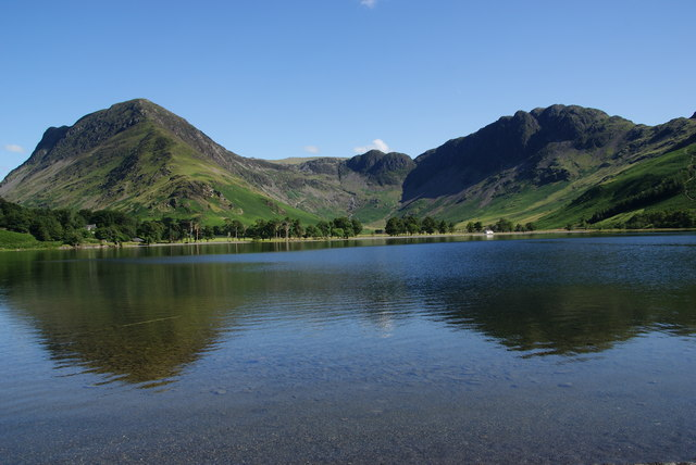 Fleetwith Pike and Haystacks reflected in Buttermere