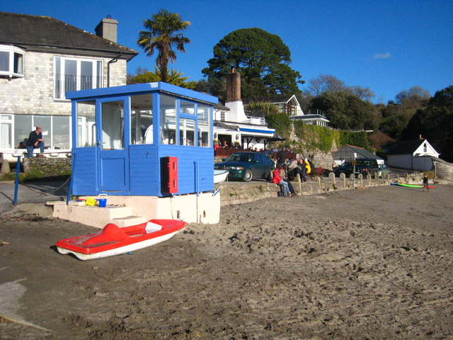 Ferry kiosk at Helford Passage