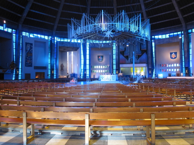 The centre and altar of the Cathedral of Christ the King