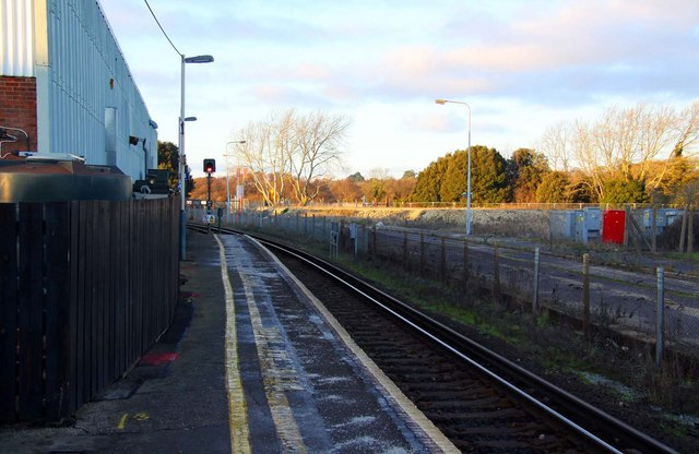 The platform at Lymington Town Station