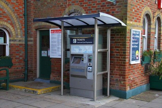 Ticket machine at Lymington Town Station