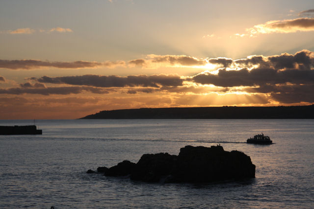Sunset over Mount's Bay