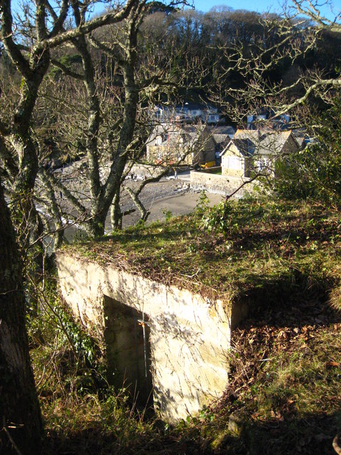 Pillbox on the Helford River above Durgan village