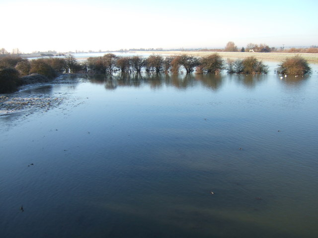 View from a bridge - The Ouse Washes at Mepal