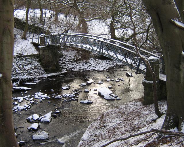 Footbridge over River Wyre