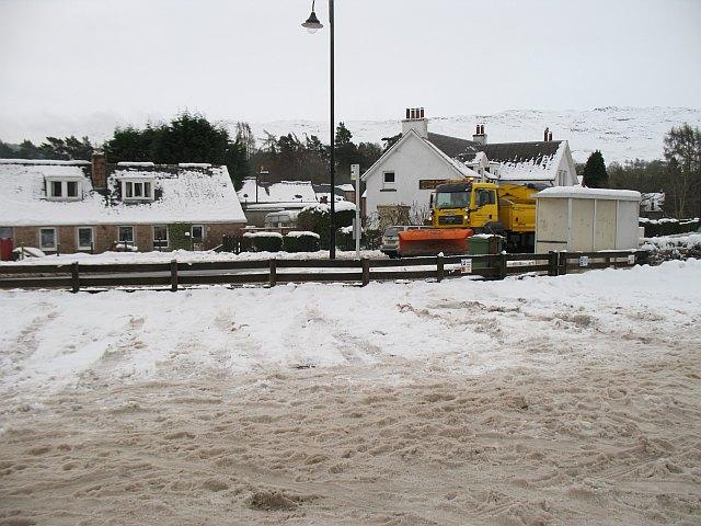 Snow plough, A82