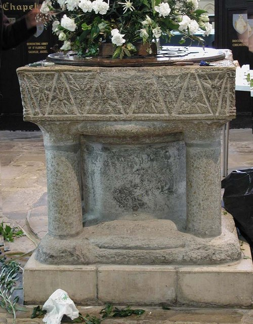 St Mary de Haura, New Shoreham, Sussex - Font
